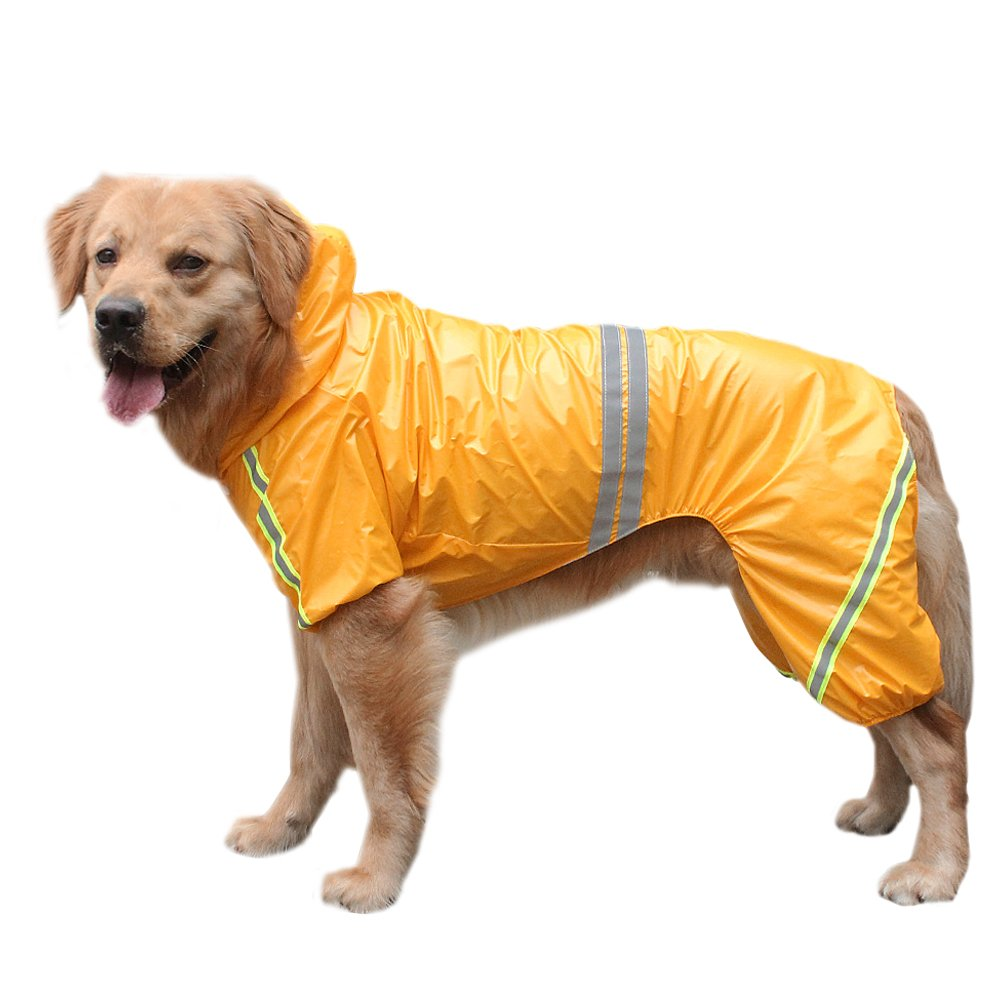 Reflective Dog Raincoat Jacket Lightweight Waterproof Rain Coat for Small Medium Large Dogs Soft Breathable Pet Rainwear Clothes in Dog Raincoats from Home Garden