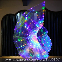LED Light Up Halloween Wings Colorful Led Luminous Belly Dance Christmas Cloak Illuminated Stage Performance Props Party Dress