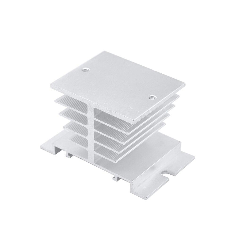 1 pc monophasé relais à semi-conducteurs SSR aluminium radiateur de Dissipation thermique plus récent, adapté pour relais 10A-40A