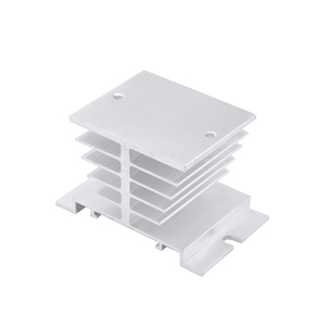1pc Single Phase Solid State Relay SSR Aluminum Heat Sink Dissipation Radiator Newest,Suitable for 10A-40A relay(China)