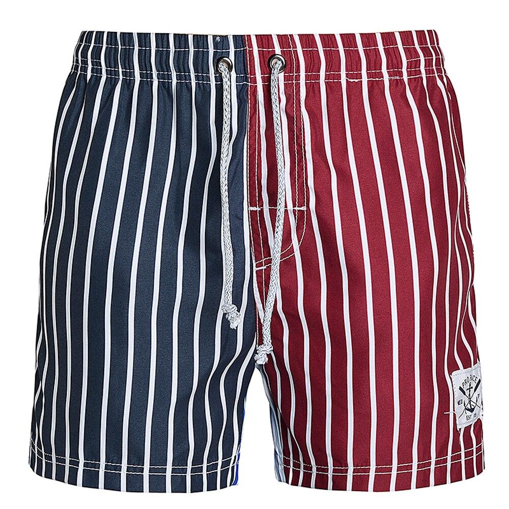 Striped Shorts Men Summer Beach Men's Beach Trunks Pockets Casual Boardshorts Mens Board Shorts Swimsuits Brand Clothing