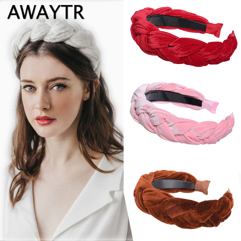 Velvet Headband Wig Hairband Women Hair Accessories(China)