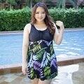 2016 новое лето купальники плюс размер женщин swearwear костюмы большой размер печати купальники материнства купальники pregnagnt плавать платье