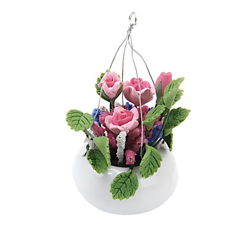 Mini Céramiques Flower Pots Miniatures pour 1//12 Dollhouse Garden Decor