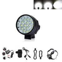 Super Power 20000Lumens 16x XM-L T6 LED Bicycle front Headlight Bike Light Lamp Torch Cycling Headlamp+Battery Pack+Charger