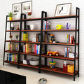 Bookcases Living Room Furniture Home Furniture panel +steel Five-layer bookcase bookshelf hot new whole sale 120*35*182cm 2017