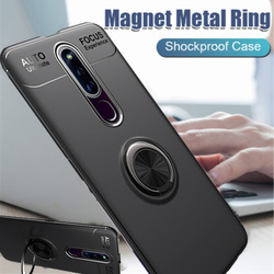 На Алиэкспресс купить чехол для смартфона for oppo f11 a9 finger ring holder case soft silicone shockproof back cover for oppo f11 pro r19 realme 3 car stand phone cases