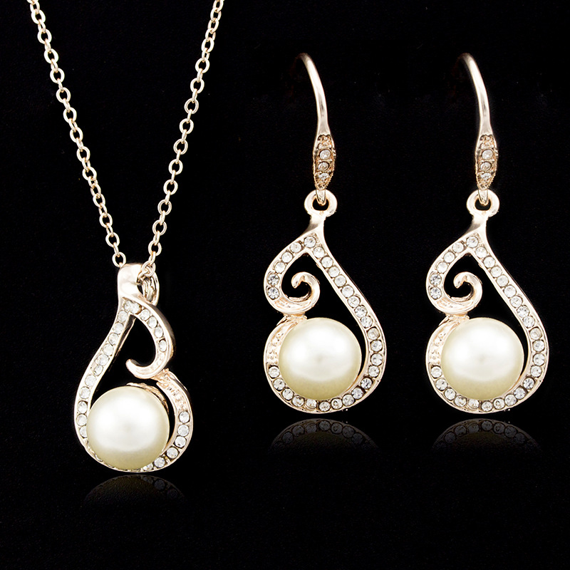Cheap Pearl Necklace Sets: Latest Charming Cheap Austrian Imitation Pearl Pendants