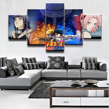 Canvas Paintings Living Room Home Decorative Framework HD Prints 5 Pieces Anime Naruto Character Print Pictures Wall Art Posters