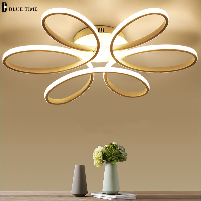 Bianco Moderno LED Lampadario Per soggiorno camera Da Letto sala da ...
