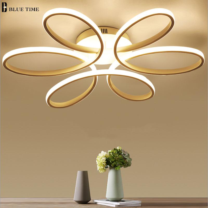 Blanc moderne led lustre pour salon chambre salle à manger lustres led plafond lustre éclairage maison luminaires luminaires