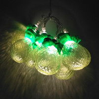 creative fashion 10 heads pineapple string lights for Christmas birthday wedding party decoration IP44 A234