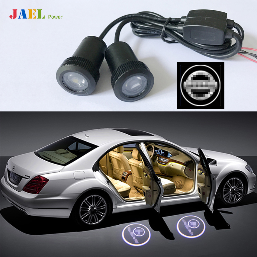 2PCs LED Door Ghost Shadow Light Courtesy Laser Projector Puddle lights Case For NISSAN Logo on the Ground
