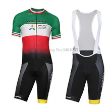 Фотография 2017 ASTANA Team New  Cycling Jersey set Bike Clothing With Bib Ropa de ciclismo Maillot Ciclismo with Soft Pad