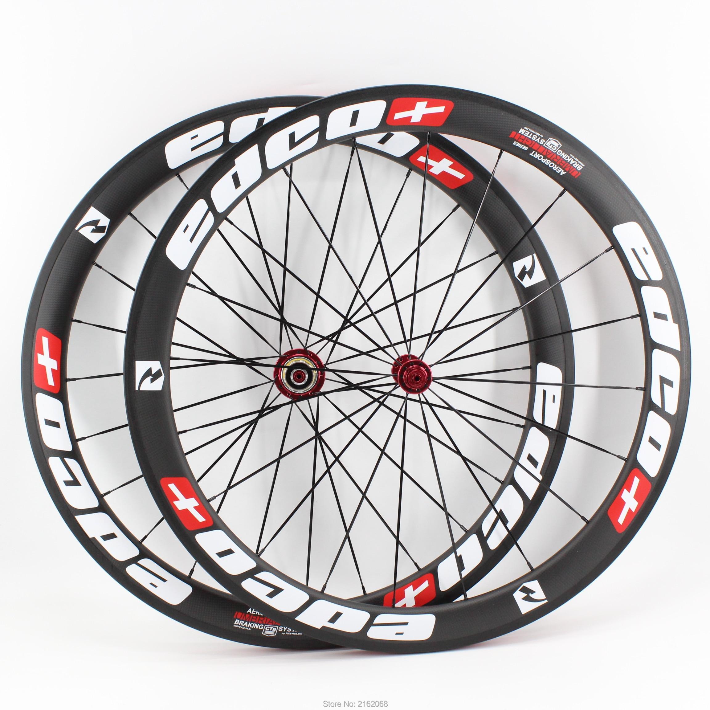 New white red 700C 50mm clincher rims Road bike matte 3K UD 12K full carbon fibre