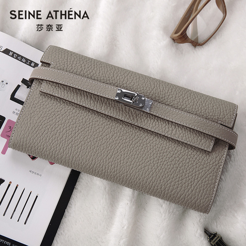 2018 Women Wallets New Fashion Wallet Female Genuine Leather Ladies Zipper Hasp Long Design Solid Purse 26 Colors Ladies Clutch 2017 special offer party solid new brand charming zipper bag ladies shouder oval 100% genuine leather women clutch durable