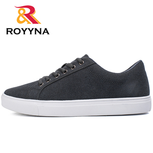 Image 3 - ROYYNA New Popular Style Men Casual Shoes Lace Up Men Flats Shoes Microfiber Comfortable Hombres Zapatos Slip On Free Shipping