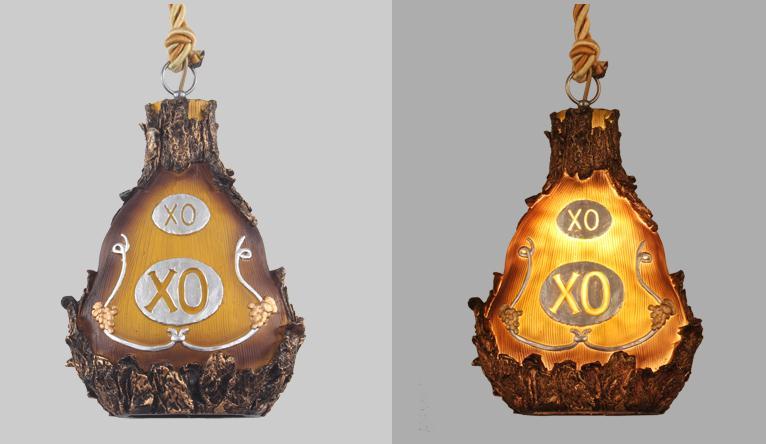 Personalidade criativa retro loft resina garrafa barril luzes pingente moderno bar restaurante café luminária - 3