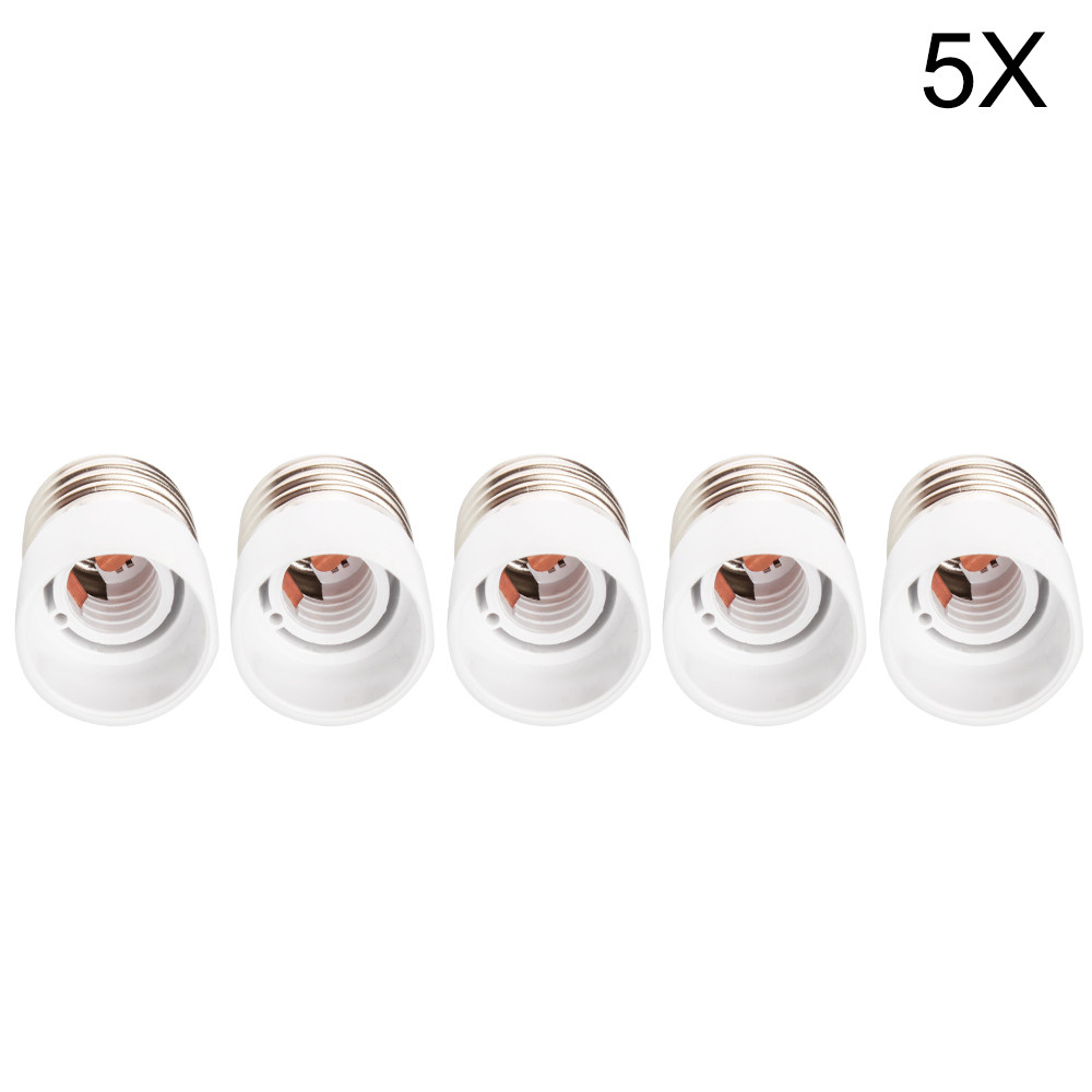 5x Adapter Conversion Socket Converter E27 TO E14 High Quality Material Fireproof Socket Adapter Lamp Holder