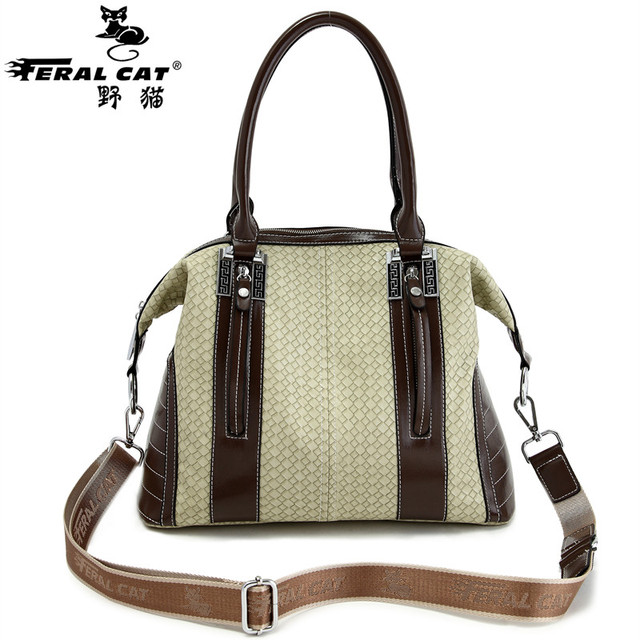 FERAL CAT BRAND Fashion Casual Fresh Business Travel Shoulder Crossbody Bags Perfect Quality Handbag