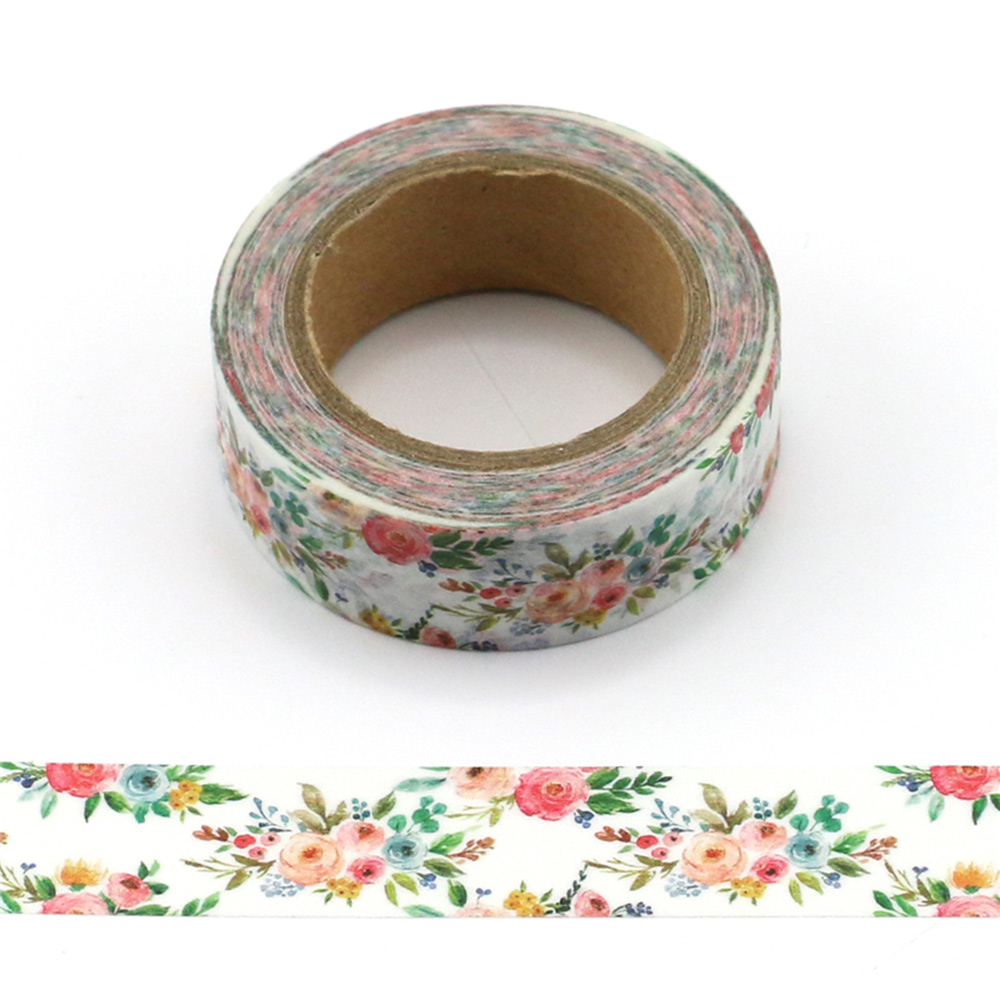 15mm*10m Fresh Floral washi tape decorative scrapbooking masking tape adhesive label sticker tape stationery perfume bottle style japanese washi tape kawaii diy decorative adhesive tape scrapbooking masking tape sticker label stationery