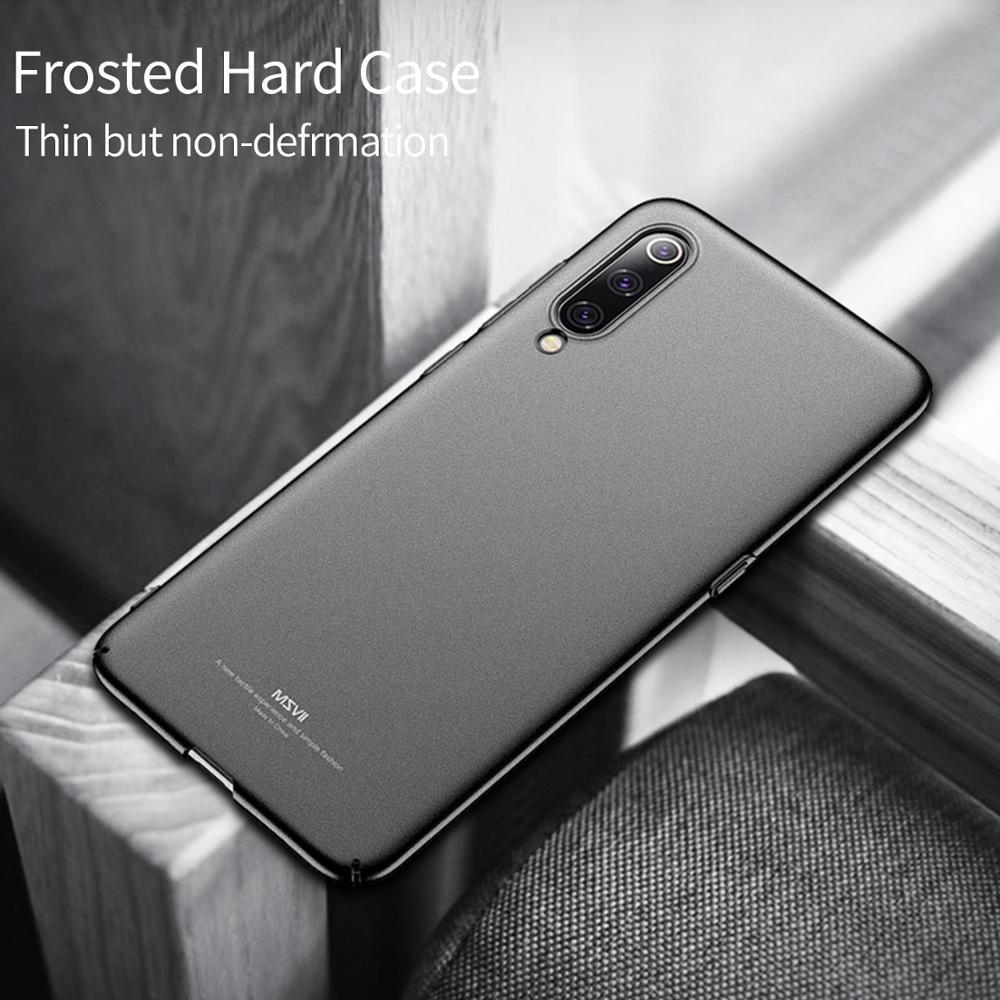MSVII чехлы для телефонов Xiaomi mi 9 чехол матовый Жесткий Чехол для mi 9 SE ультра-тонкий чехол против отпечатков пальцев для Xiaomi mi 9 Coque Capa