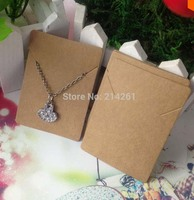 Kraft pendant Card Jewelry Tag Necklace Display Card Custom Logo Cost Extra Pendant Label 5x7cm