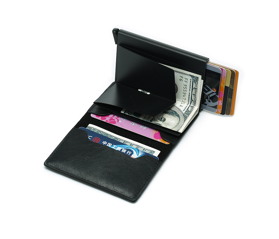 Mens Small Slim Leather Wallets Rfid Card Holder 58