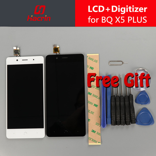 Hacrin LCD Display + Touch Screen + Tools Set Digitizer Assembly Replacement for BQ Aquaris X5 Plus 1920x1080 FHD 5.0inch