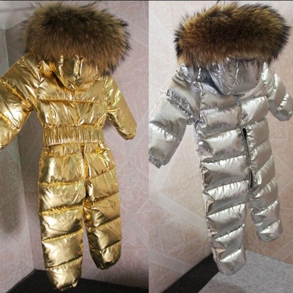 Children's Down Jacket Ski Suit Jumpsuit 0-5 Years Old