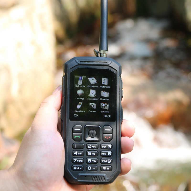Nga Bàn Phím JEASUNG X6 UHF Bộ Đàm IP68 Chắc Chắn Điện Thoại Di Động chống nước 2500 mAh 2.4 Inch Dual SIM GSM