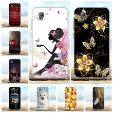 For Alcatel 1 Cover Slim Soft Silicone 5033D 5033 5033A 5033Y 5033X Case Flowers Patterned Shell Bag
