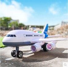 Trasporto libero wrestling inerzia di grandi dimensioni per bambini toys simulazione aereo 380 aerei giocattolo di musica carrello modello toys