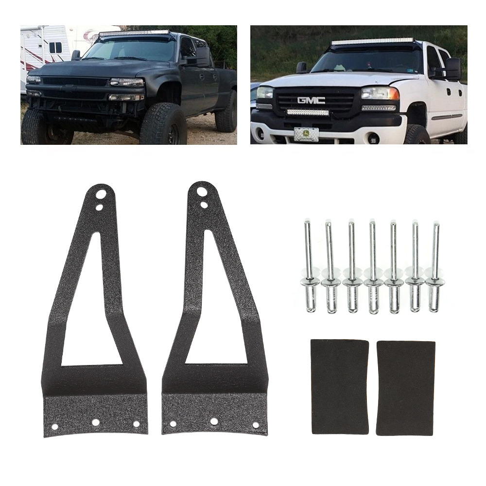Us 16 0 10 Off Liplasting 52 Led Light Bar Roof Mounting Brackets For 1999 2015 Ford F250 F350 F450 2017 New In Car Light Accessories From