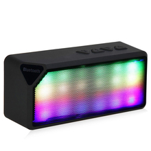 Microphone built-in fm smartphone radio speaker flash colorful bluetooth support wireless
