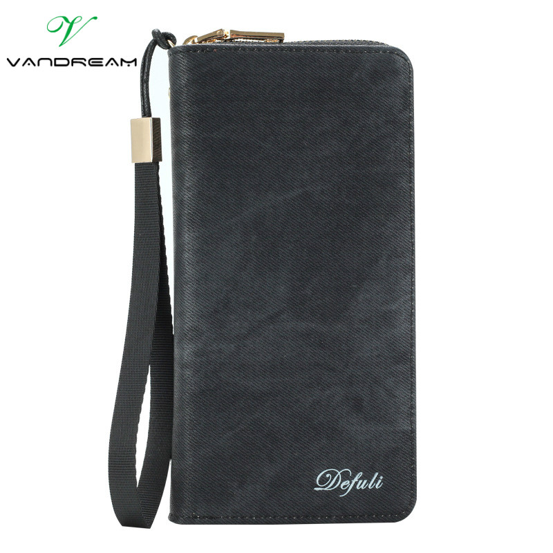 Long Men Wallets 2016 New Design Men's Purse Casual Wallet zipper coin Clutch Bag Brand canvas Leather Brand business Handbags donolux подвесная люстра donolux la cella s110174 4