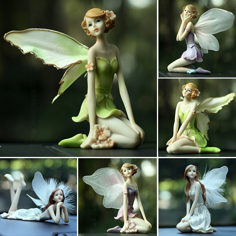 2019 new Flower Fairy Statue Garden Figurines Love music Baby Girl angel Resin baby doll gifts for Children Wedding gifts