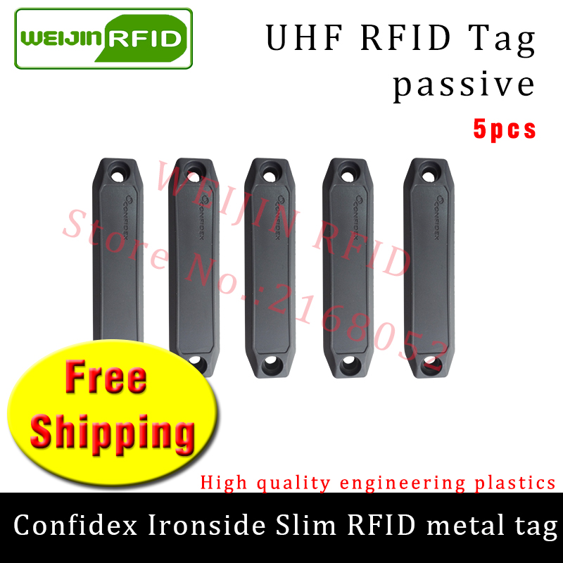 UHF RFID metal tag confidex ironside slim 915m 868mhz Impinj Monza4QT EPC 5pcs free shipping durable ABS smart passive RFID tagsUHF RFID metal tag confidex ironside slim 915m 868mhz Impinj Monza4QT EPC 5pcs free shipping durable ABS smart passive RFID tags