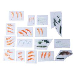 13 adet Dolum Etiket Epoksi Reçine silikon kalıp Malzemeleri DIY Takı Yapımı japon balığı Yaprak Dekorasyon Dolgu Kendinden Yapışkanlı 2019