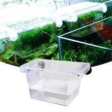 Acrylic Betta Fish Tank Incubator Box Aquarium Tropical Fish Double-deck Self – floating Incubator Durable Fish Breeding Boxes