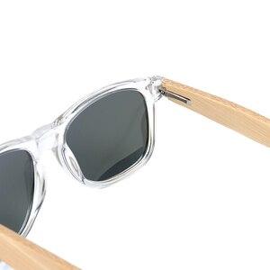 Image 5 - Bobo pássaro artesanal polarizado óculos de sol feminino homem com lente colorida transparente armação de plástico bambu pernas moda óculos