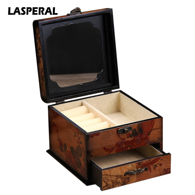 2017 LASPERAL Creative Classic Makeup Organizer For Women Cosmetic Box  Drawer Make Up Storage Case Chinese