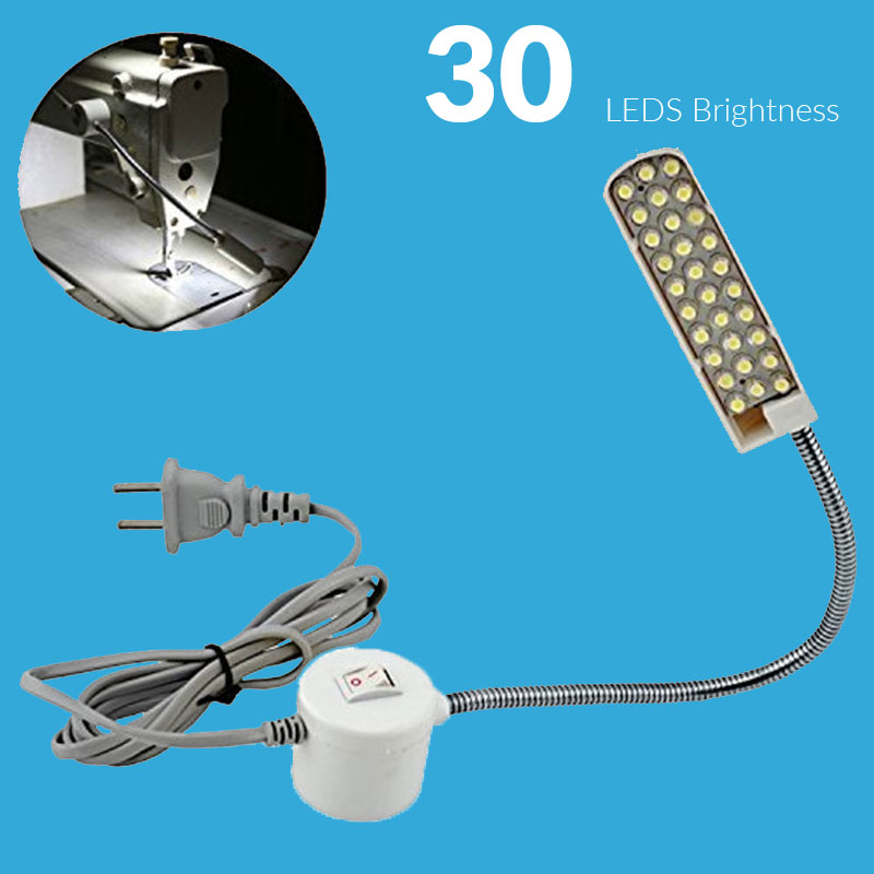 led machine sewing light 220v 30 led table desk lamp with magnetic mounting base for sewing - Gooseneck Lamp