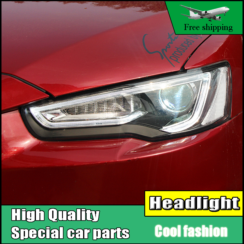 Car Styling Head Lamp For Mitsubishi Lancer EX Headlights 2009-2016 LED Headlight DRL H7 D2H Hid Option Angel Eye Bi Xenon Beam car styling for mitsubishi lancer ex headlights led headlight drl lens lancer ex double beam h7 hid xenon bi xenon lens