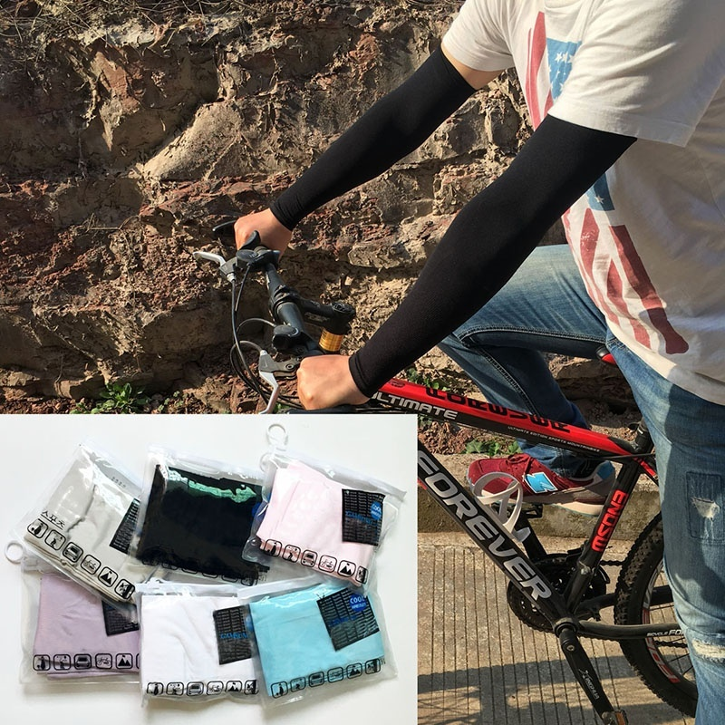 Men And Women Arm Warmers Sleevelet Silk Ice Arm Sleeve Summer Seamless Sun Protection Arm Sleeve 5 Color