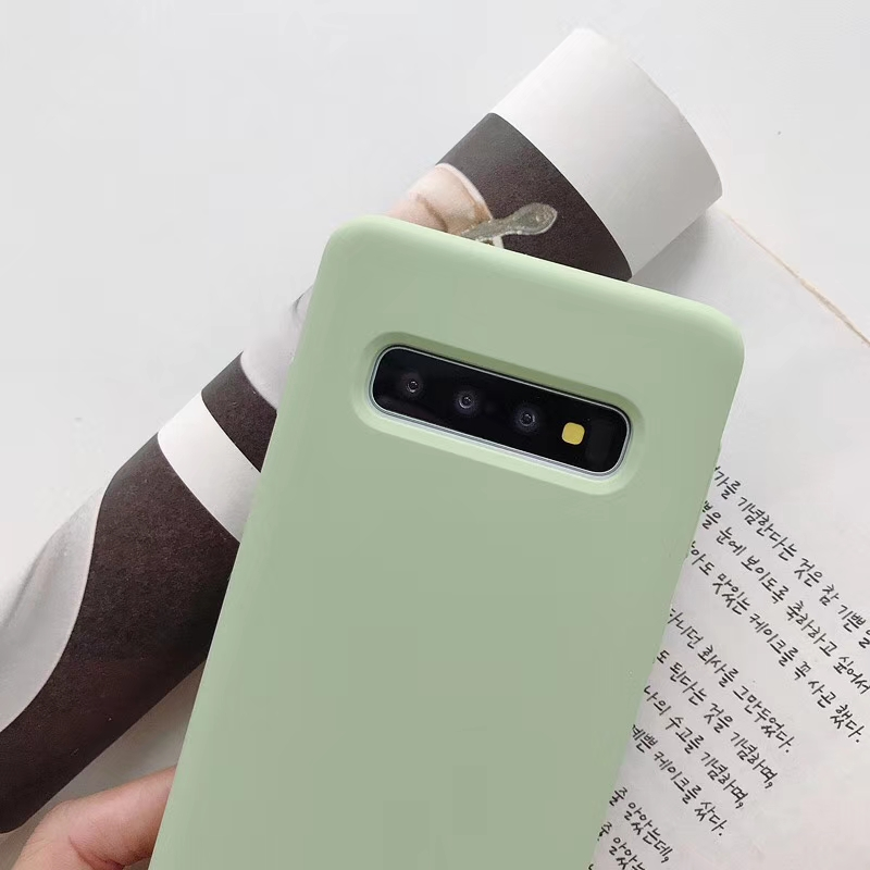 Liquid Silicone Soft Baby-Skin Feeling Back Case for Samsung S10 Phone Cover Coque 3