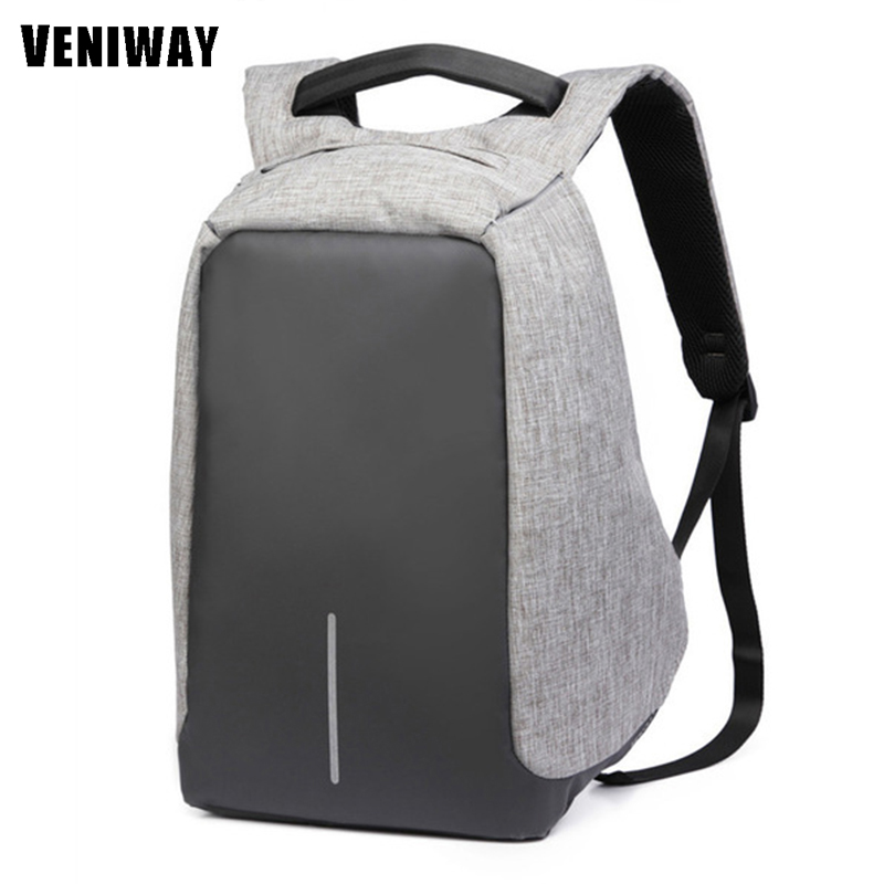 USB Charge Multifunction Laptop Backpack For XD Body City Anti-theft Veniway Design Waterproof Casual Laptop Rucksack School Bag multifunction charge
