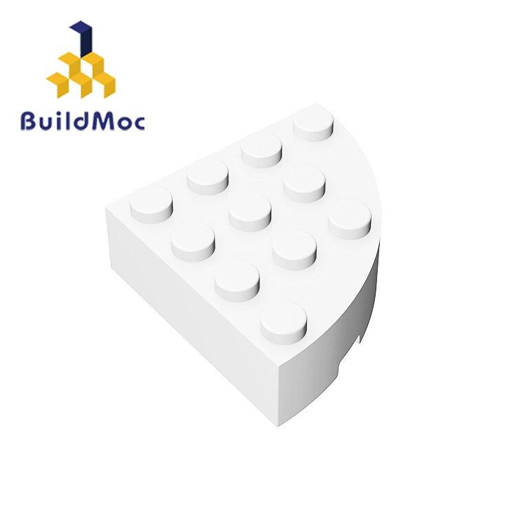 BuildMOC Compatible Assembles Particles 2577 4x4 1/4 For Building Blocks Parts DIY Enlighten Block Bricks Educational Tech Toys