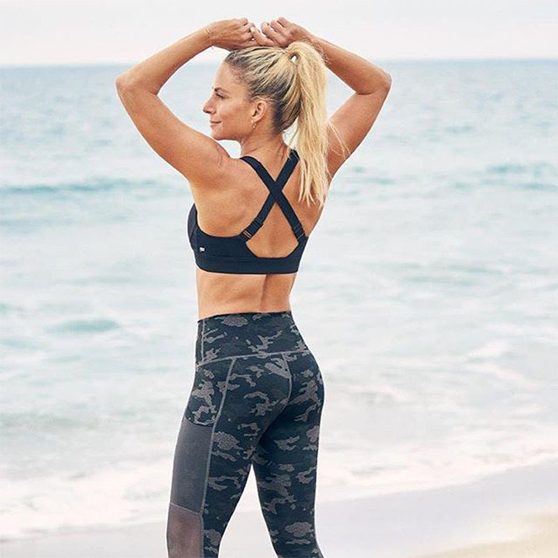 High Waist Slim Yoga Pants Shark Gym Camo Mesh Patchwork Leggings High Elastic Exercise Tights Women Pants for Fitness Running in Yoga Pants from Sports Entertainment