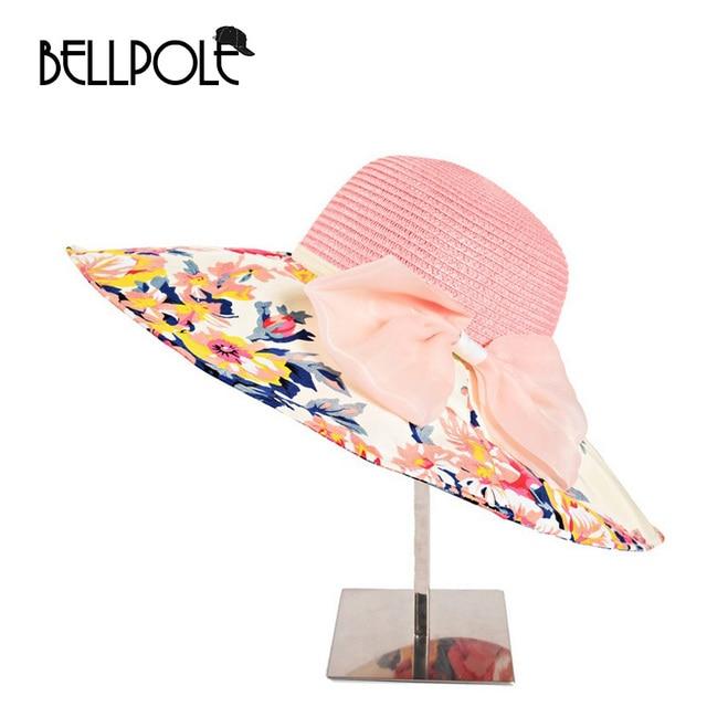 Новое Прибытие Мода Цветочный Дизайн Складной Наполнянный До Краев Шляпа Солнца Летние Шляпы Для Женщин Уф Пляж Девушки Visorsummer Шляпы Женщин